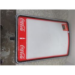 2 Coca Cola Whiteboards in Pkg (For Stands-Missing Poles)