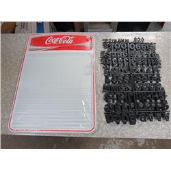 "Coca Cola Menu Board 22""x16"" C/W 2 Sets of letters"