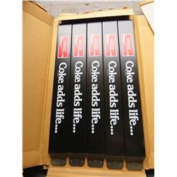 "Pack of 5 Coca Cola Push Bars (32""x3.5""each)"