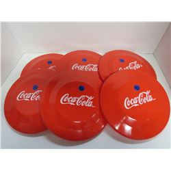 Lot of 6 Coca Cola Frisbees