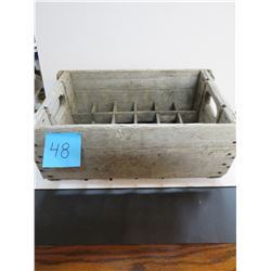 "24 slot Wooden Crate-19.5""x12""x8.5 Deep"