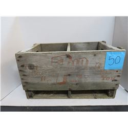 "7 up (Red Writing) Wooden Crate 18""x10""x10.5""Deep"