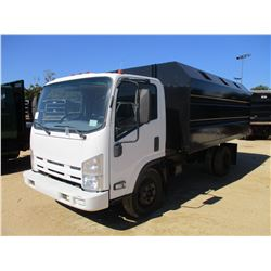 2008 ISUZU NQR CHIP TRUCK, VIN/SN:JALE5W16387301088 - S/A, DIESEL ENGINE, A/T, NEW 14' CHIP BODY, OD