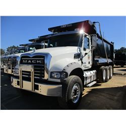 2016 MACK GU713 DUMP, VIN/SN:1M2AX07C0GM060312 - TRI-AXLE, 455 HP MACK MP8 ENGINE, ALLISON A/T, 44K