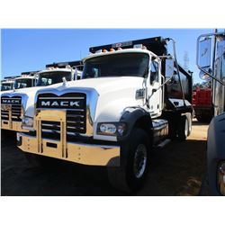 2017 MACK GU713 DUMP TRUCK, VIN/SN:1M2AX09C9HM033561 - T/A, 415 HP MACK MP8 ENGINE, ALLISON A/T, 44K
