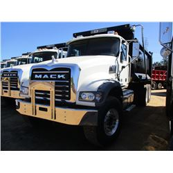 2017 MACK GU713 DUMP TRUCK, VIN/SN:1M2AX09C0HM033559 - T/A, 415 HP MACK MP8 ENGINE, ALLISON A/T, 44K