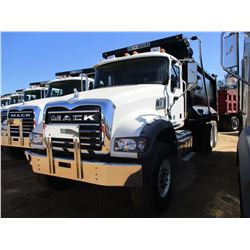 2017 MACK GU713 DUMP TRUCK, VIN/SN:1M2AX09C9HM033558 - T/A, 415 HP MACK MP8 ENGINE, ALLISON A/T, 44K