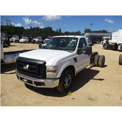 2009 FORD F350 CAB & CHASSIS, VIN/SN:1FDWF36R29EA00321 - POWER STROKE DIESEL ENGINE, A/T, ODOMETER R
