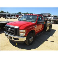 2010 FORD F350 FLATBED, VIN/SN:1FDWD3HR7AEA60564 - V8 POWERSTROKE DIESEL ENGINE, A/T, 11' FLATBED BO