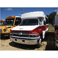2009 CHEVROLET C4500 BUS, VIN/SN:1GBE4V1909F409330 - S/A, DURAMAX DIESEL ENGINE, A/T, 13 PASSENGER,