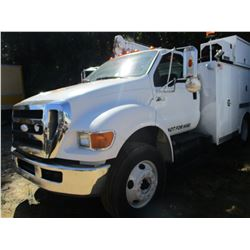 2008 FORD F750 MECHANICS TRUCK, VIN/SN:3FRWF75U58V660635 - S/A, CAT C7 DIESEL ENGINE, ALLISON A/T, C