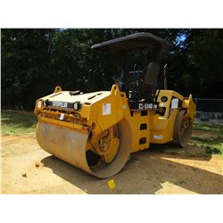 """2005 CAT CB-534DXW ROLLER, VIN/SN:EAA00296 - TANDEM, 79"""" DRUMS, VIBRATORY, CANOPY, METER READING 214"""