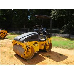 """2012 BOMAG BW120AD ROLLER, VIN/SN:861880182081 - TANDEM, 48"""" DRUMS, VIBRATORY, CANOPY, METER READING"""