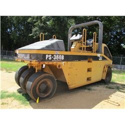 2001 CAT PS-360B ROLLER, VIN/SN:9LS00207 - PNEUMATIC, ROLL BAR, WATER SYSTEM, METER READING 3,269 HO