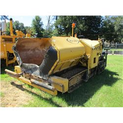 2015 WEILER P385 ASPHALT PAVER, VIN/SN:P385A-1573 - CRAWLER, 10' SCREED, METER READING 1,833 HOURS