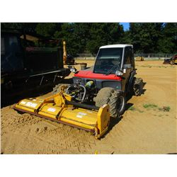 AEBI TT240 SLOPE MOWER, VIN/SN:18608 - FRONT MTD, 8' FLAIL MOWER, PTO, QUICK HITCH, METER READING 80