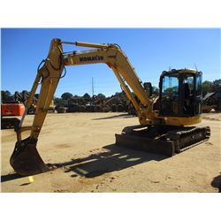 "2008 KOMATSU PC88MR-8 HYDRAULIC EXCAVATOR, VIN/SN:5158 - 7' STICK, 18"" BUCKET, AUX HYD, BLADE, RUBBE"