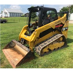 2015 CAT 259D SKID STEER LOADER, VIN/SN:FTL-04626 - CRAWLER, TWO SPEED, GP BUCKET, CANOPY, METER REA