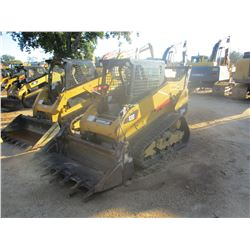 2013 CAT 259B3 SKID STEER LOADER, VIN/SN:YYZ04747 - CRAWLER, MP BUCKET, TWO SPEED, CANOPY, METER REA