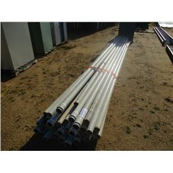 MISC SIZE PVC PIPE, (B9)