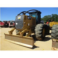 2015 CAT 525D SKIDDER, VIN/SN:GKP00189 - SINGLE ARCH, WINCH, CAB, AC, 30.5L-32 TIRES, METER READING