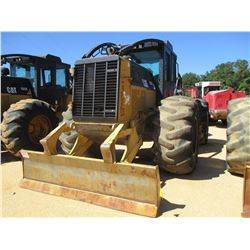 2011 CAT 525C SKIDDER, VIN/SN:52501159 - DUAL ARCH, WINCH, CAB, 30.5L-32 TIRES, METER READING 10,908