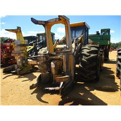 JOHN DEERE 843H FELLER BUNCHER, VIN/SN:882151 - SAW HEAD, CAB, A/C, 30.5L-32 TIRES, METER READING 13