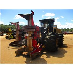 2014 CAT 563C FELLER BUNCHER, VIN/SN:W6300143 - CAT SC-57 SAW HEAD, CAB, A/C, 67X34.00-25 TIRES, MET