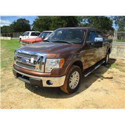 2011 FORD F150 PICKUP, VIN/SN:1FTFW1E63BFA94049 - GAS ENGINE, A/T, 4X4, CREW CAB, ODOMETER READING 9