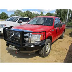 2013 FORD 150XLT PICKUP, VIN/SN:1FTFX1EF4DKF37490 - 4X4, EXT CAB, V8 GAS ENGINE, A/T, BED COVER, FRO