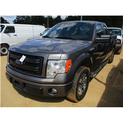 2013 FORD F150 STX PICKUP, VIN/SN:1FTFX1CF3DFB44589 - EXTENDED CAB, V8 GAS ENGINE, A/T, ODOMETER REA