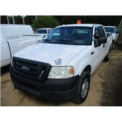 2005 FORD F150 PICK UP, VIN/SN:1FTRX14W95FB72801 - 4X4, EXT CAB, GAS ENGINE, A/T, ODOMETER READING 2