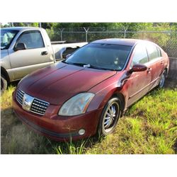 2004 NISSAN MAXIMA VIN/SN:1N4BA41E44C858928 - GAS ENGINE, A/T, ODOMETER READING 187,732 MILES