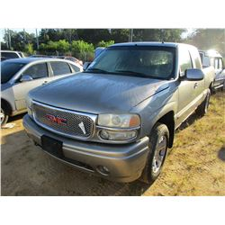 2001 GWC PICKUP, VIN/SN:2GTEK69UX11386666 - EXT CAB, GAS ENGINE, A/T, ODOMETER READING 177,822 MILES