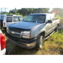 2003 CHEVROLET 2500HD PICK UP, VIN/SN:1GCHC23133F188962 - EXTENDED CAB, DURAMAX DIESEL ENGINE, A/T,