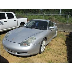 1999 PORSCHE VIN/SN:WP0AA2992X5623312 - GAS ENGINE, A/T, ODOMETER READING 107,914 MILES