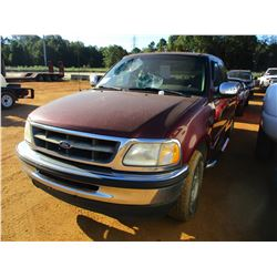 1998 FORD F150 PICKUP, VIN/SN:1FTZX17W9WNC05864 - EXT CAB, V8 GAS ENGINE, A/T, BED COVER, ODOMETER R