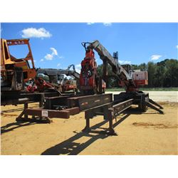 PRENTICE 210E LOG LOADER, VIN/SN:P55017 - CAB, MTD ON T/A TRAILER, METER READING 10,266 HOURS