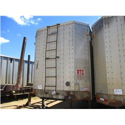 1993 PEERLESS CHIP TRAILER, VIN/SN:1PLE0402XPPA12854 - T/A, CLOSED TOP, 40' LENGTH, HALF GATE, 11R24