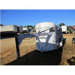 GOOSENECK STOCK TRAILER, - 16', T/A, ST225/75R15 TIRES, (C1)