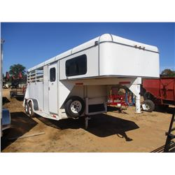 2000 DIXIE GOOSENECK TRAILER, VIN/SN:16GNSL05129900109 - 3 HORSE VAN W/STORAGE SECTION (KEY IN THE O
