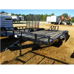 7' X 20' TAG TRAILER, - T/A, RAMPS, ST225/75D15 TIRES, (C1)
