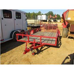 "78"" X 14' TAG TRAILER, VIN/SN:SL2BU1425HT000653 24"" DOVETAIL, FOLD DOWN RAMPS, ST205/75D15 TIRES (C1"