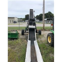 "ADAMS FL-24 FIELD LOADER CONVEYOR, - 8' RUN, 26' RISE, 24"" RUBBER BELT, STAINLESS STEEL CONSTRUCTION"