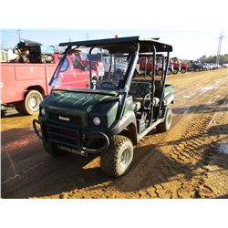 2015 KAWASAKI 4010 ATV, VIN/SN:JK1AFCR15FB524123 - 4X4, GAS ENGINE, METAL CANOPY, WINDHSIELD, DUMP B