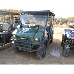 2014 KAWASAKI 4010 MULE, VIN/SN:JK1AFCR13EB520523 - 4X4, GAS ENGINE, WINDSHIELD, CANOPY, DUMP BED, M