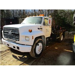 1992 FORD F600 FUEL & LUBE TRUCK, VIN/SN:1FDWK64P6NYA13114 - FORD DIESEL ENGINE, A/T, 10' BODY, PROD