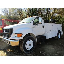 2000 FORD F650 MECHANICS TRUCK, VIN/SN:3FDNF6541YMA63132 - CUMMINS DIESEL ENGINE, 6 SPEED TRANS, TOO