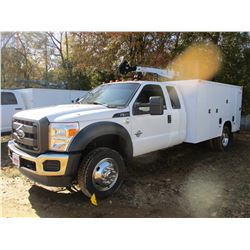 2016 FORD F550 MECHANICS TRUCK, VIN/SN:1FD0X5HT4GED30952 - 4X4, EXT CAB, POWERSTROKE DIESEL ENGINE,