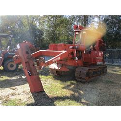 DITCHWITCH HT110 TRENCHER, VIN/SN:510520 - DIESEL ENGINE, RC110 BLADE, ZH830 CABLE PLOW, TRACK TYPE,